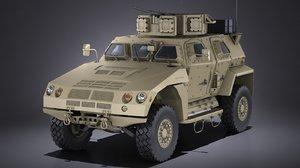 3d model jltv tactical army