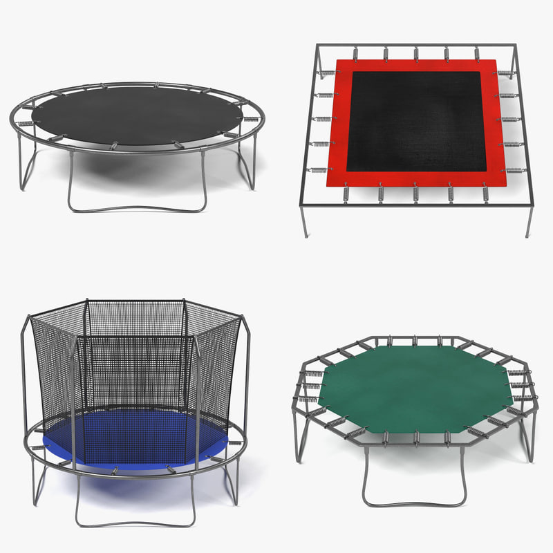 trampolines 3d 3ds