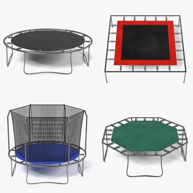 trampolines 3d 3ds