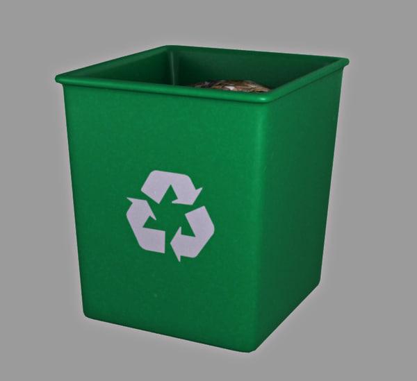 rubbish bin obj free