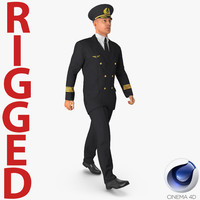 3d airline pilot rigged