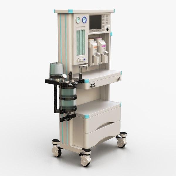 3d anesthesia machine model