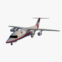 3d british aerospace 146 bae model