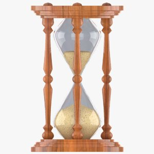 3d model hourglass hour glass