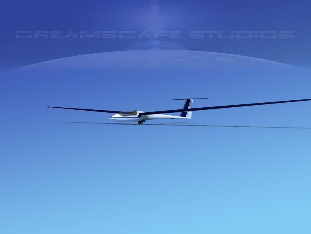 asw 22 sailplane 3d model