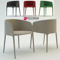 mdf italia achille armchair 3d max