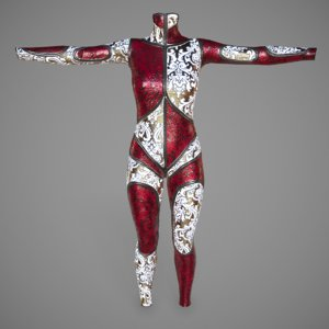 3d model pbr catsuit