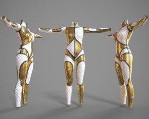 3d model pbr catsuit