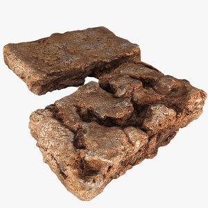 brownie 3d obj