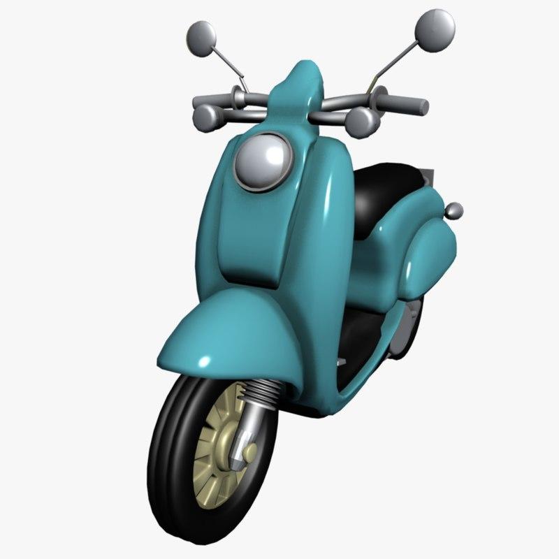 3d model of vespa scooter