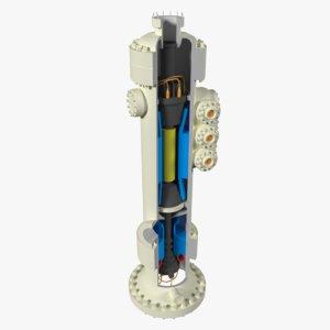 3d subsea compressor model