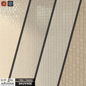 3d tile ariana sauvage set model
