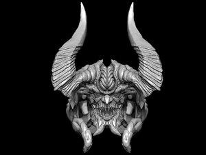 3d model monster head