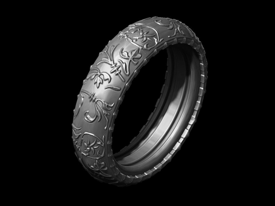 3d ring printable print