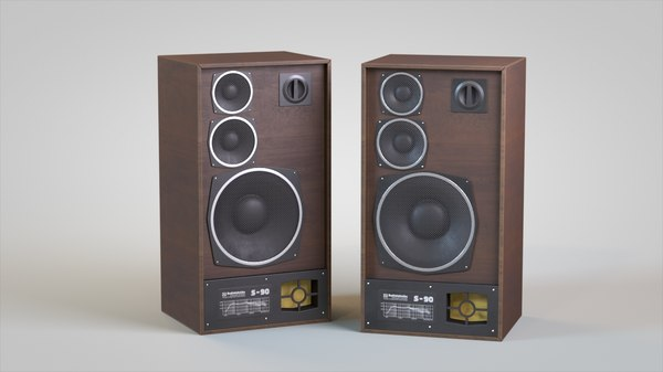 radiotehnika s90 speakers 3d model