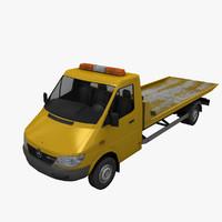 3d model mercedes sprinter tow truck