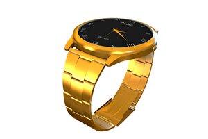 alba gold watch 3d model