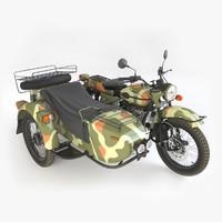 ural gear-up sidecar 3d model