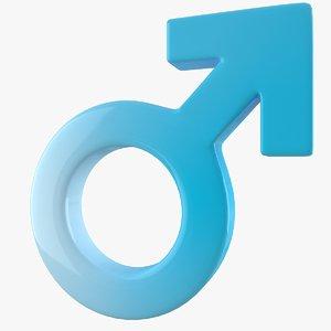 male gender symbol obj