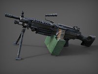 3d m249 machine gun