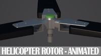 free light helicopter rotor animation 3d model