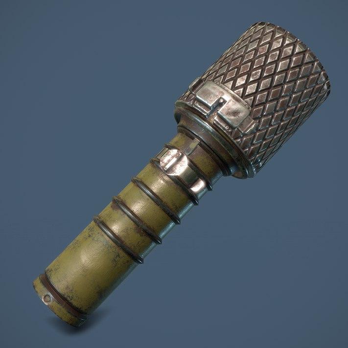 3d soviet rgd-33 grenade