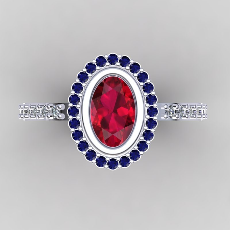 3d model of designer ring