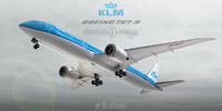 boeing 787-9 klm airlines 3d 3ds
