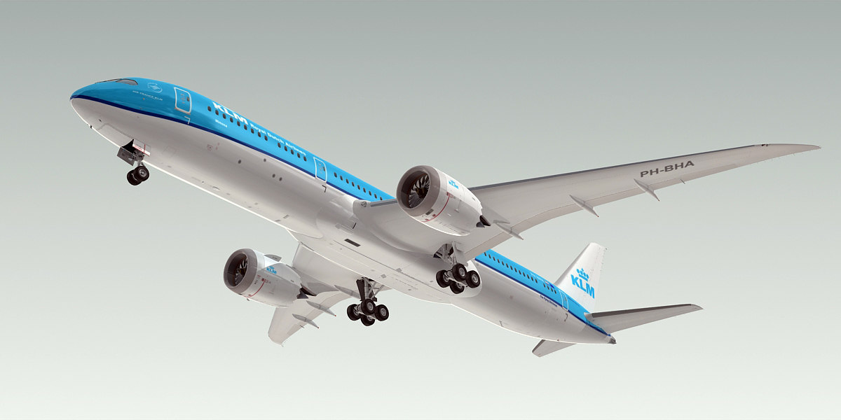 boeing 787-9 dreamliner plane 3d model