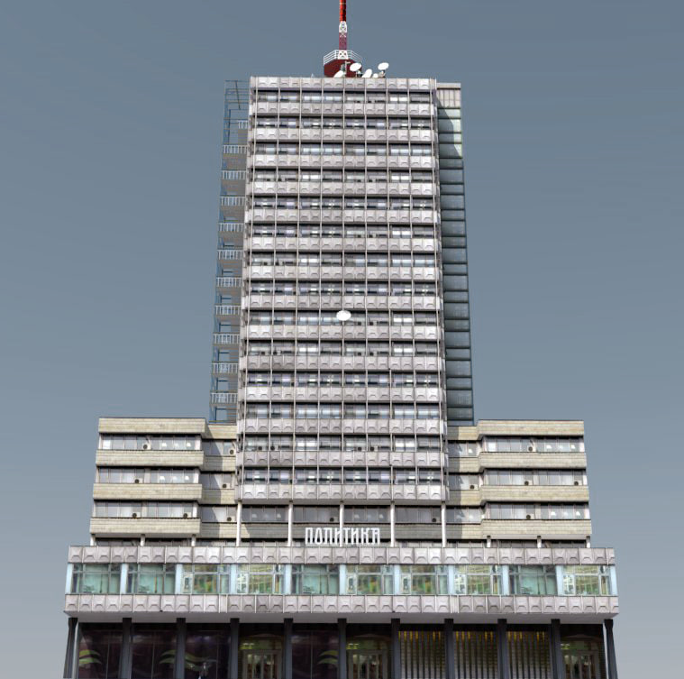 serbia modern architecture highrises 3d 3ds