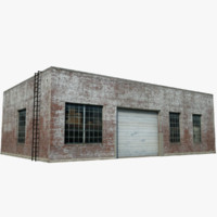 old style warehouse 3d model