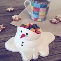 Snowman candy bowl