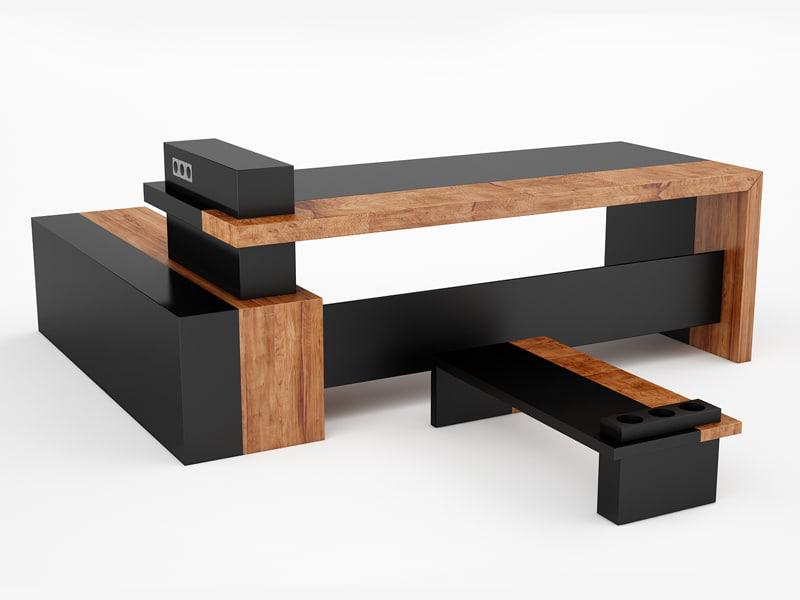 c4d design office desk