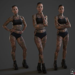 fbx tattoo people printing
