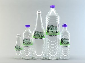 water bottles 3d 3ds