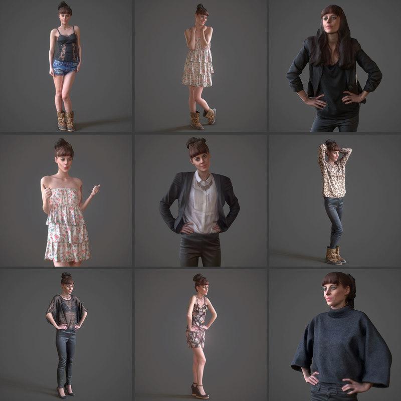 3d x 9 fashion girls