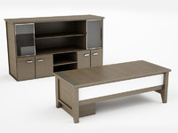 3d design office desk
