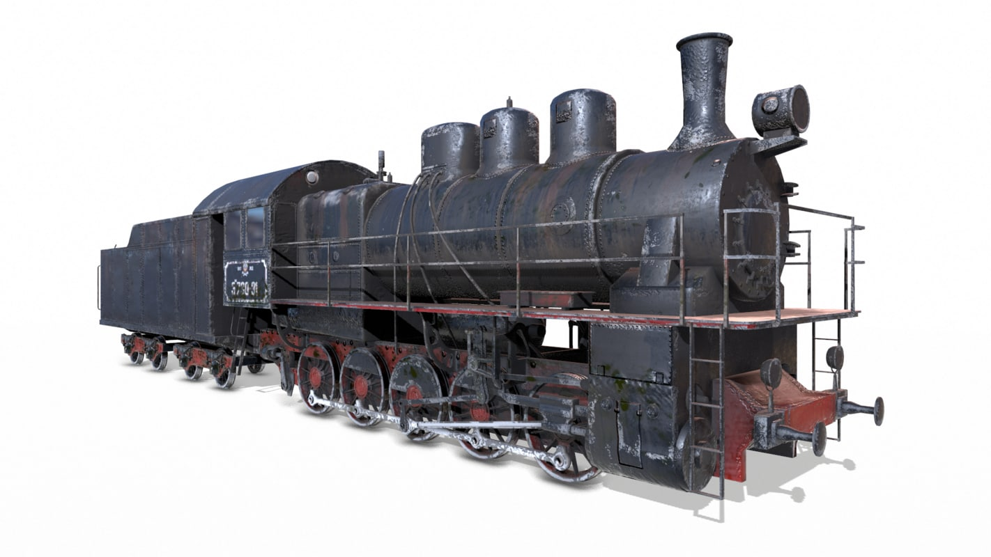 3d model soviet train em locomotive