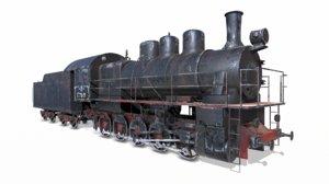 3d model soviet train em locomotive