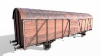 Soviet railroad freight vagon