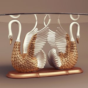 swan table 3d model