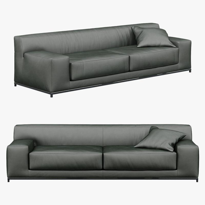 3d sofa meridiani freeman 260c model