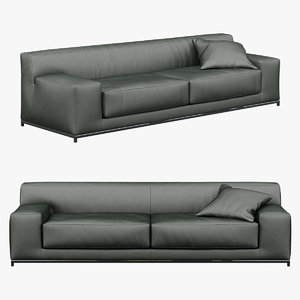 3d sofa meridiani freeman 260c model