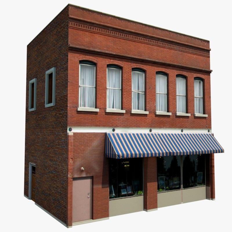 old style restaurant warehouse obj