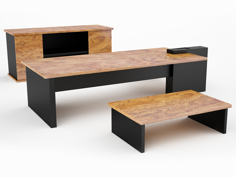 Design office desk 3d model for Office table 3d design