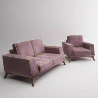 3D model Classic Loft Sofa (furniture)