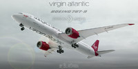 boeing 787-9 virgin atlantic 3d model