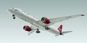 3d model of boeing 787-9 dreamliner plane