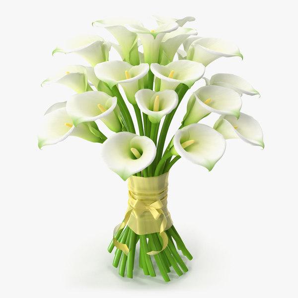 3d bouquet calla flowers