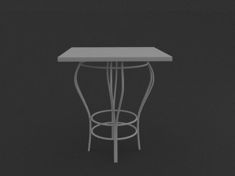 3d model table bar restaurant